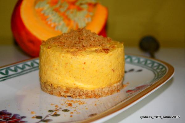 Kürbis Cheesecake mit Spekulatius