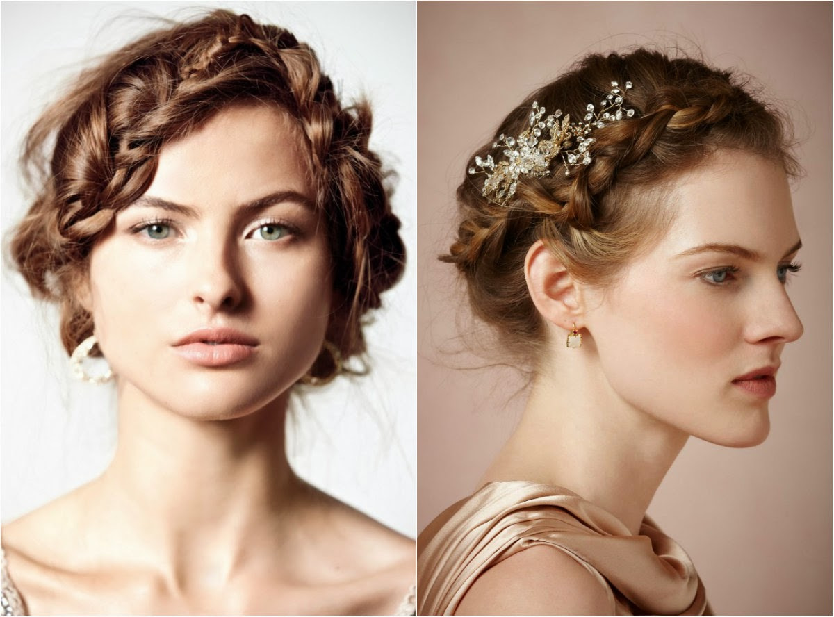 Wedding Hairstyles with Braided Hair Flowers