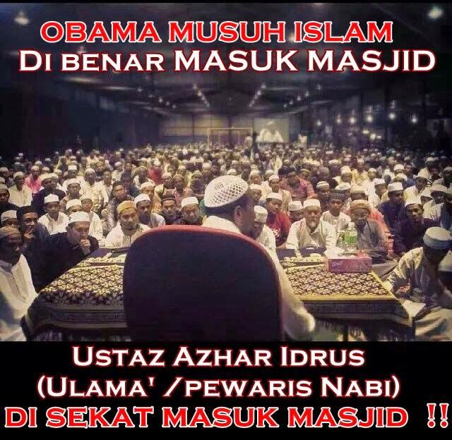 Ustaz Azhar Idrus Tak Dibenar Ceramah Di Masjid, Adakan Di Padang Futsal