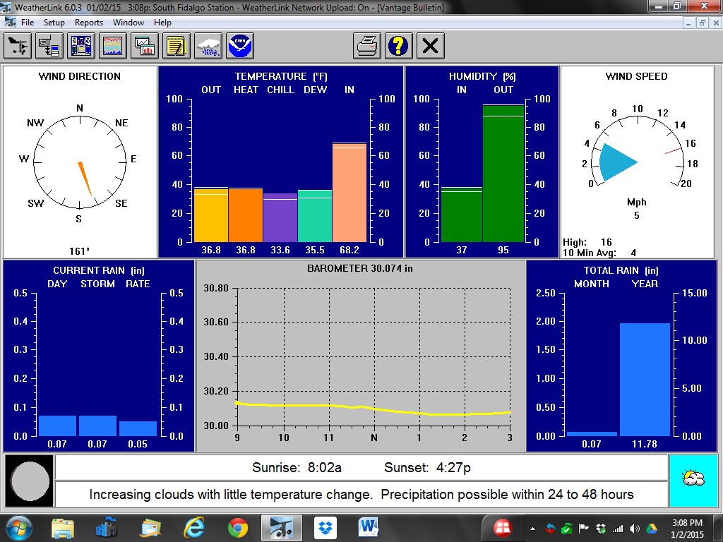 WeatherLink Software Screen Shot