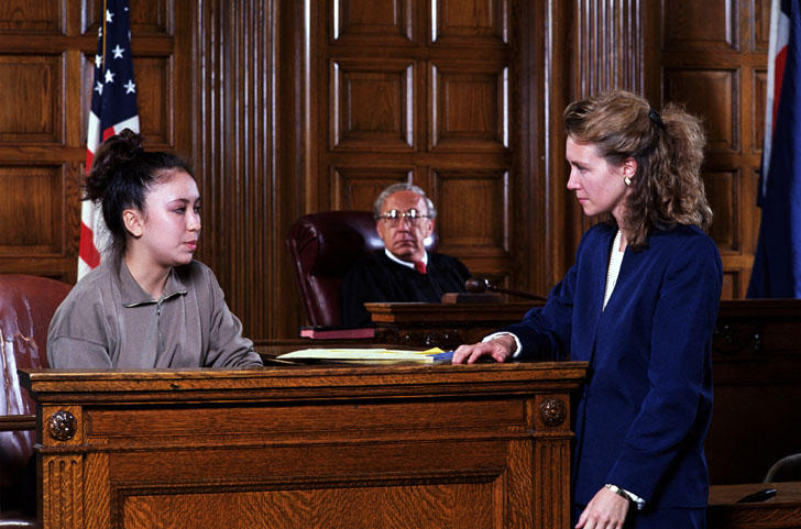 Woman Lawyer In Courtr...