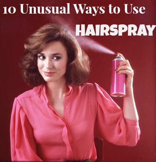 how to get nail polish out of fabric with hairspray