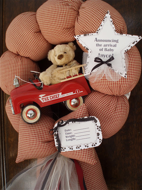 85. custom fire truck baby wreath Little chief