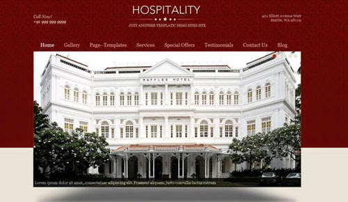 Hospitality Templatic Wordpress Theme Version 1.1.2 free