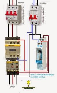 Interruptor horario contactor rele termico trifasico