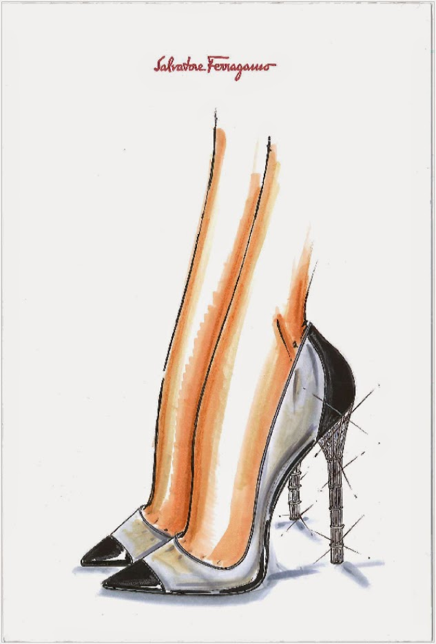 Salvatore Ferragamo Cinderella Glass Slipper Sketch