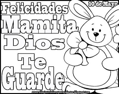 Dibujos Cristianos Del Día De Las Madres Para Colorear Blogs