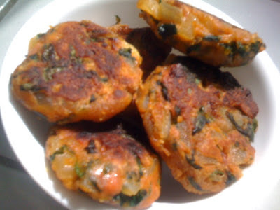 keerai Cutlet with spinach and chickpeas flour