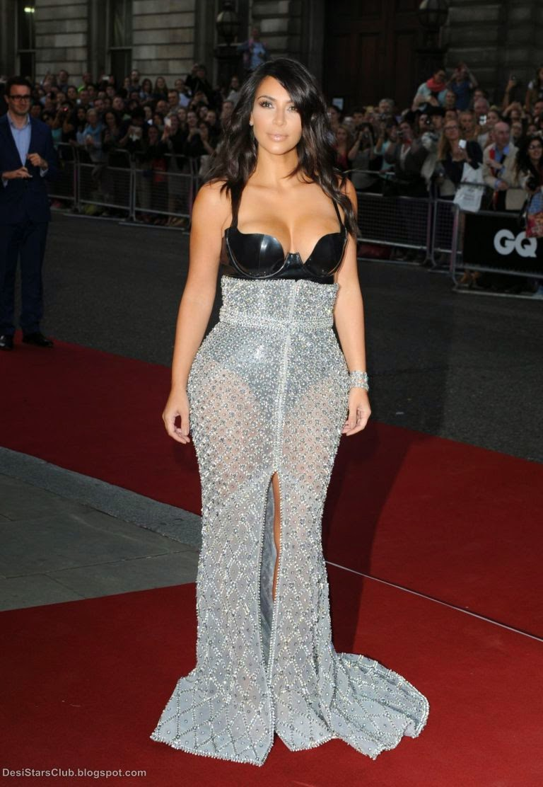 Kim Kardashian Looks Gorgeous In Transparent Dress at GQ Men of the Year Awards