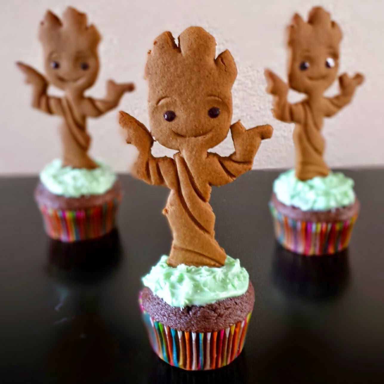 """See how to make these Cute Baby Groot Gingerbread Men. """"Guardians of ..."""