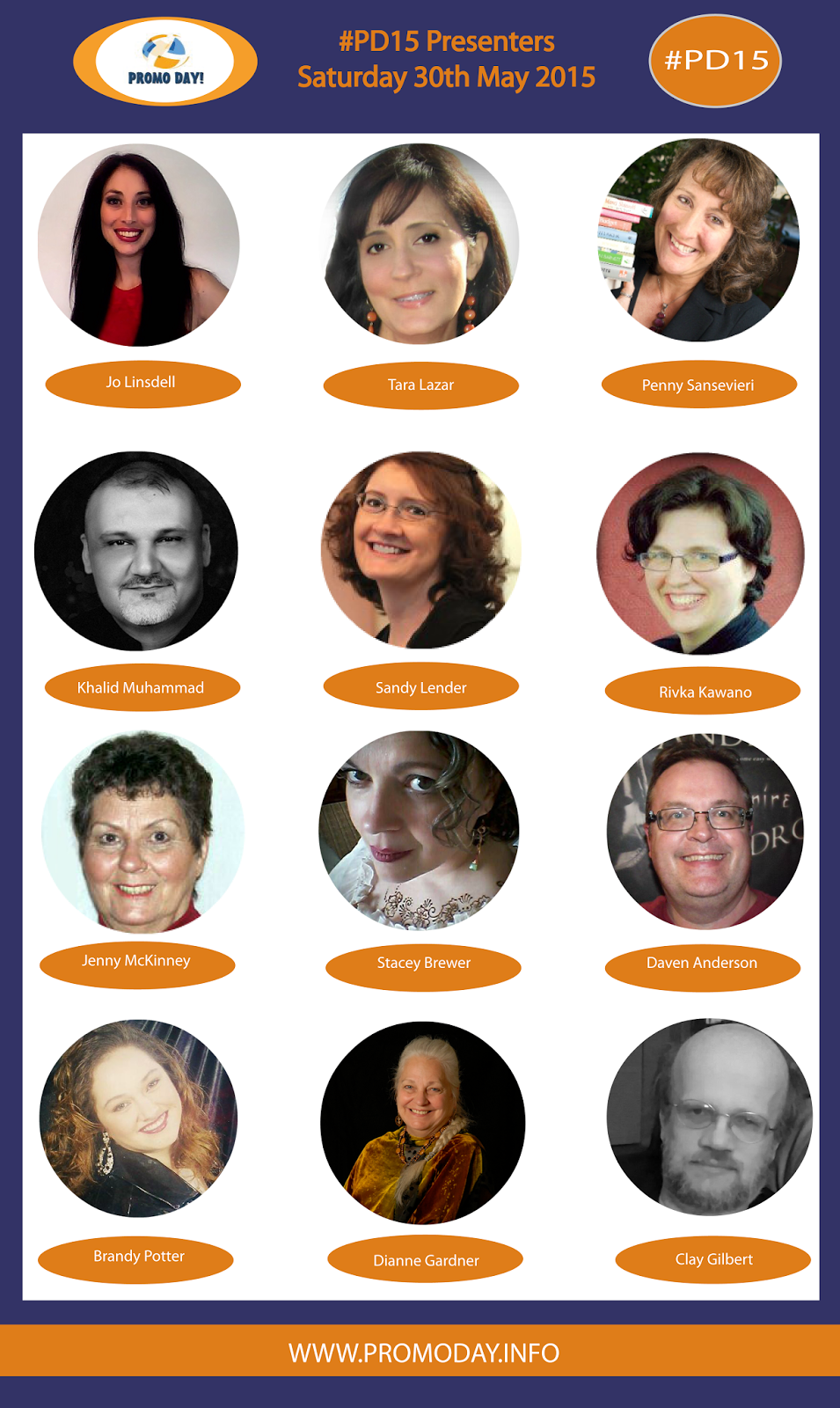 Check out the great line up of presenters who will be offering free webinars at this years Promo Day event on Saturday 30th May.Register now at www.PromoDay.info