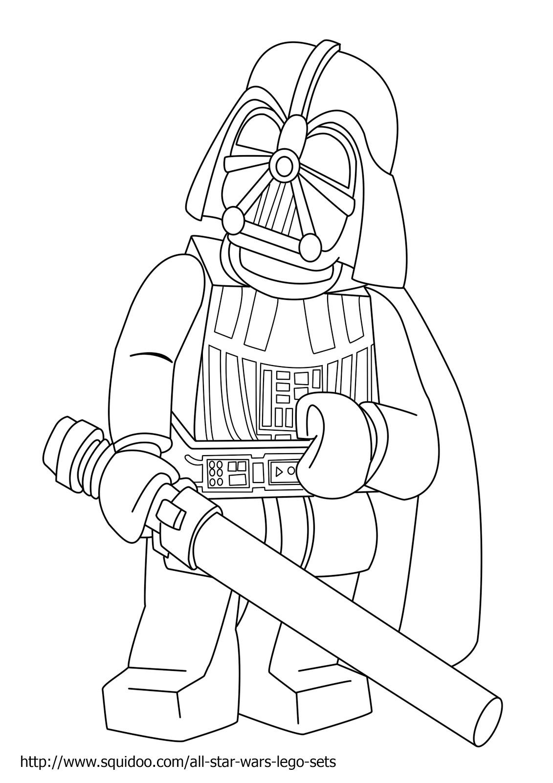 Dibujos para colorear de star wars lego