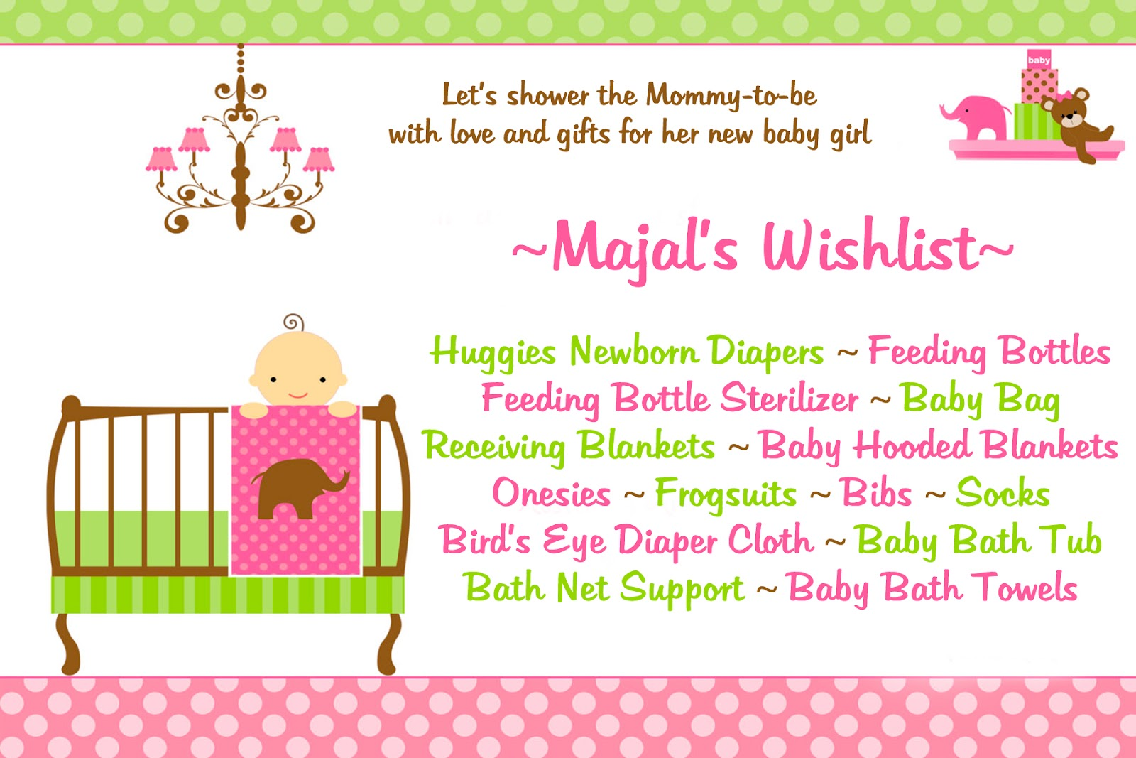 celebrate life preview majal 39 s baby shower