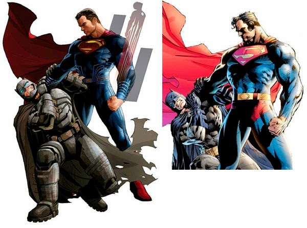 "Comparación ""Batman V Superman: Dawn of Justice"""