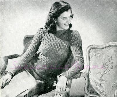Free 1940's Knitting - Bell Stitch Jumper