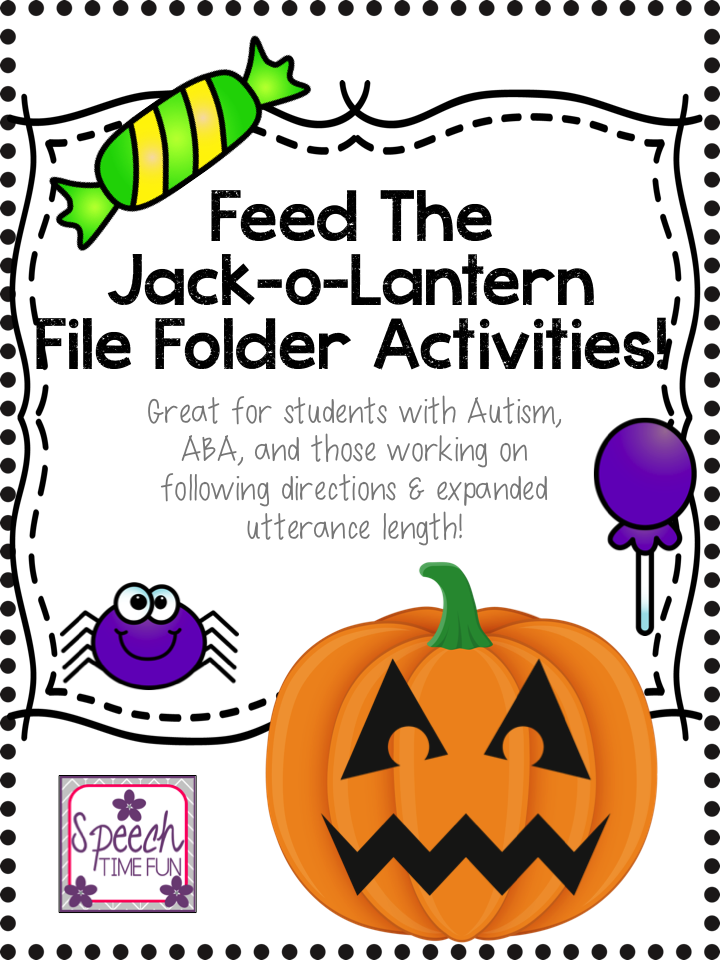 feed the jack o lantern great for students with autism aba and those working on following directions expanded utterance length - Halloween Following Directions