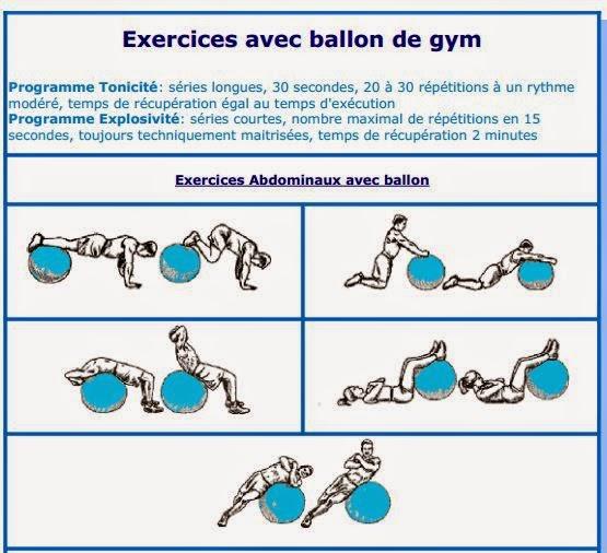 Extrêmement Shoppeos Maroc: Exercices avec ballon de gym ou swiss ball DJ99