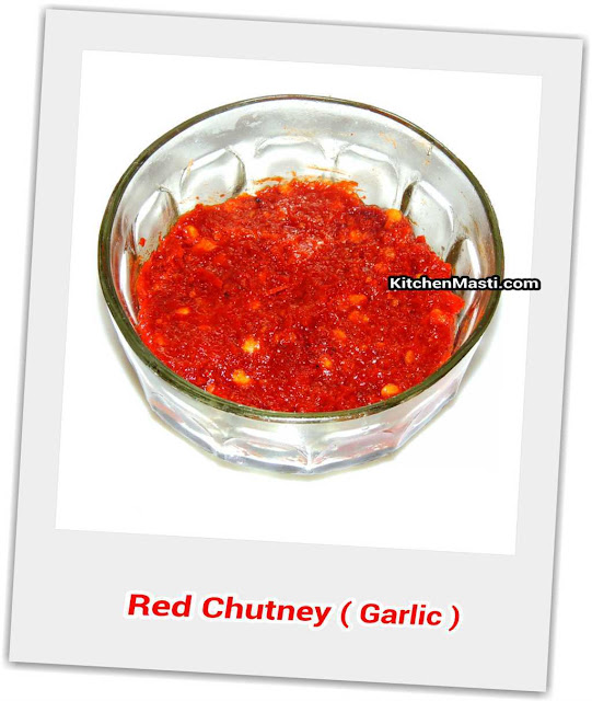 spicy red kohlapuri garlic chutney
