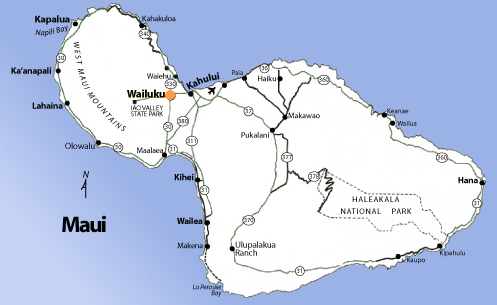 Map of Hawaii Cities and Islands