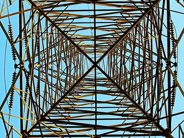 electricity pylon graphic image