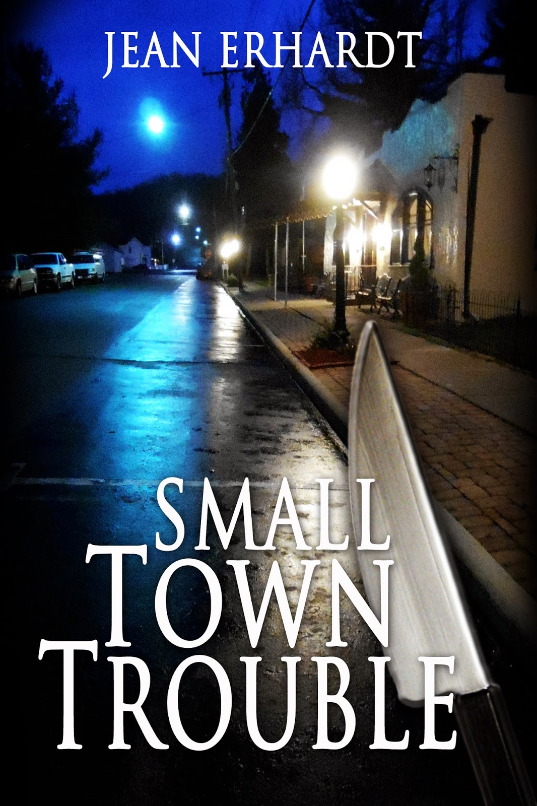 http://www.amazon.com/Small-Town-Trouble-Jean-Erhardt-ebook/dp/B00COEGW16/ref=sr_1_1?s=books&ie=UTF8&qid=1391478969&sr=1-1&keywords=Jean+Erhardt