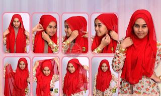 model jilbab pashmina kaos