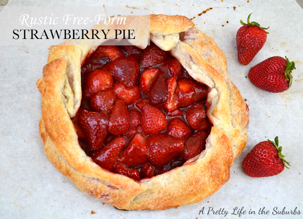 Rustic Free-Form Strawberry Pie