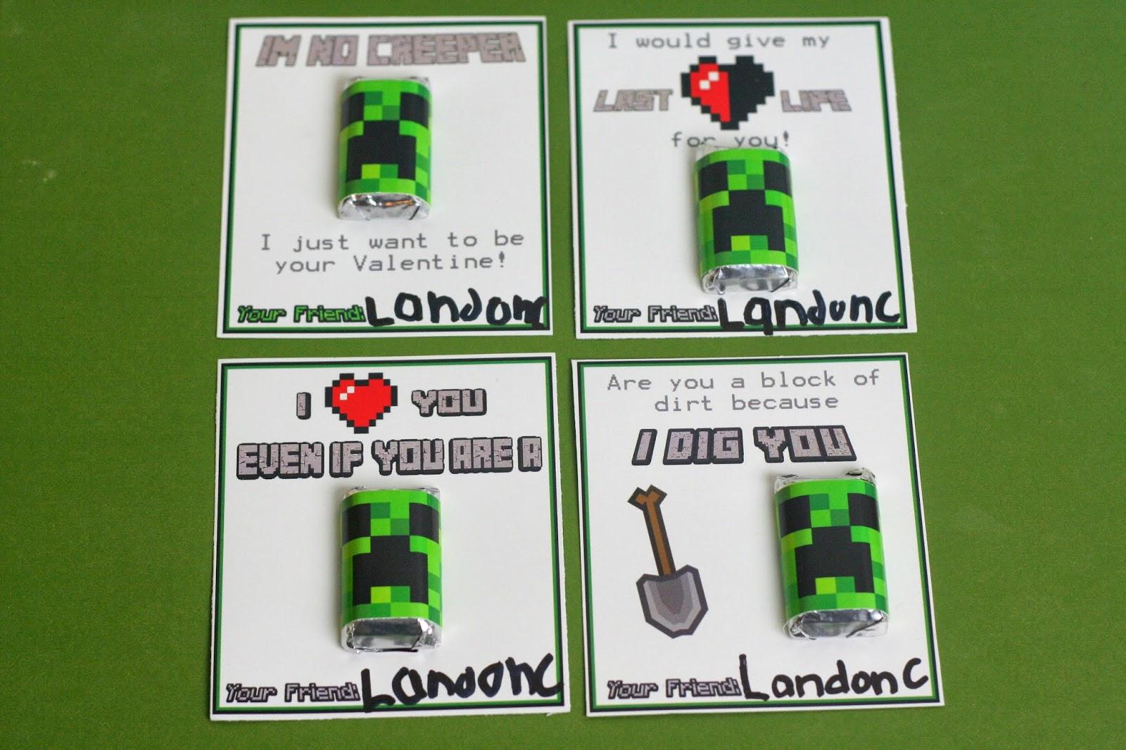 Minecraft Creeper Valentines