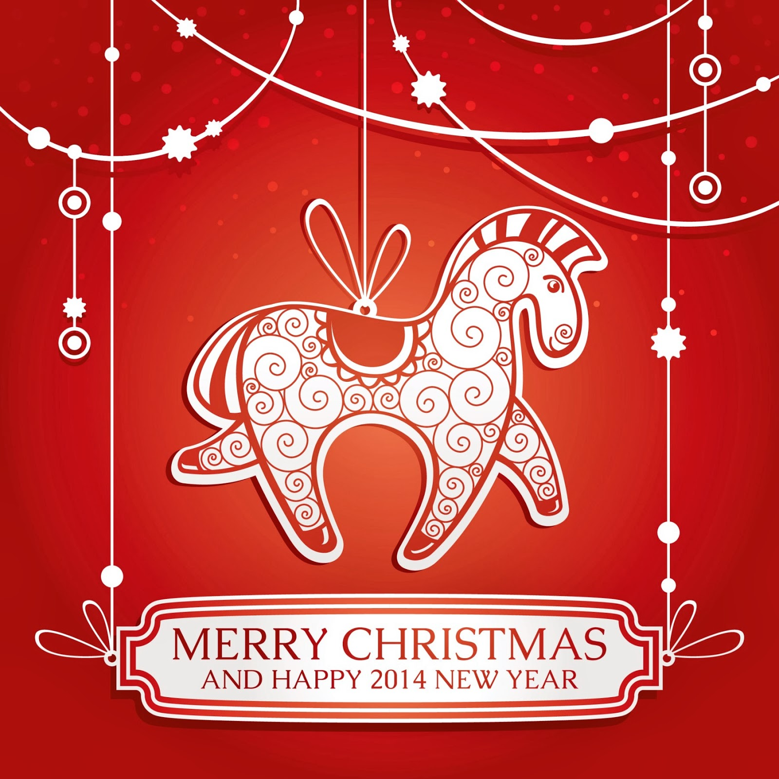 Merry Christmas And Happy 2014 New Year Wallpaper