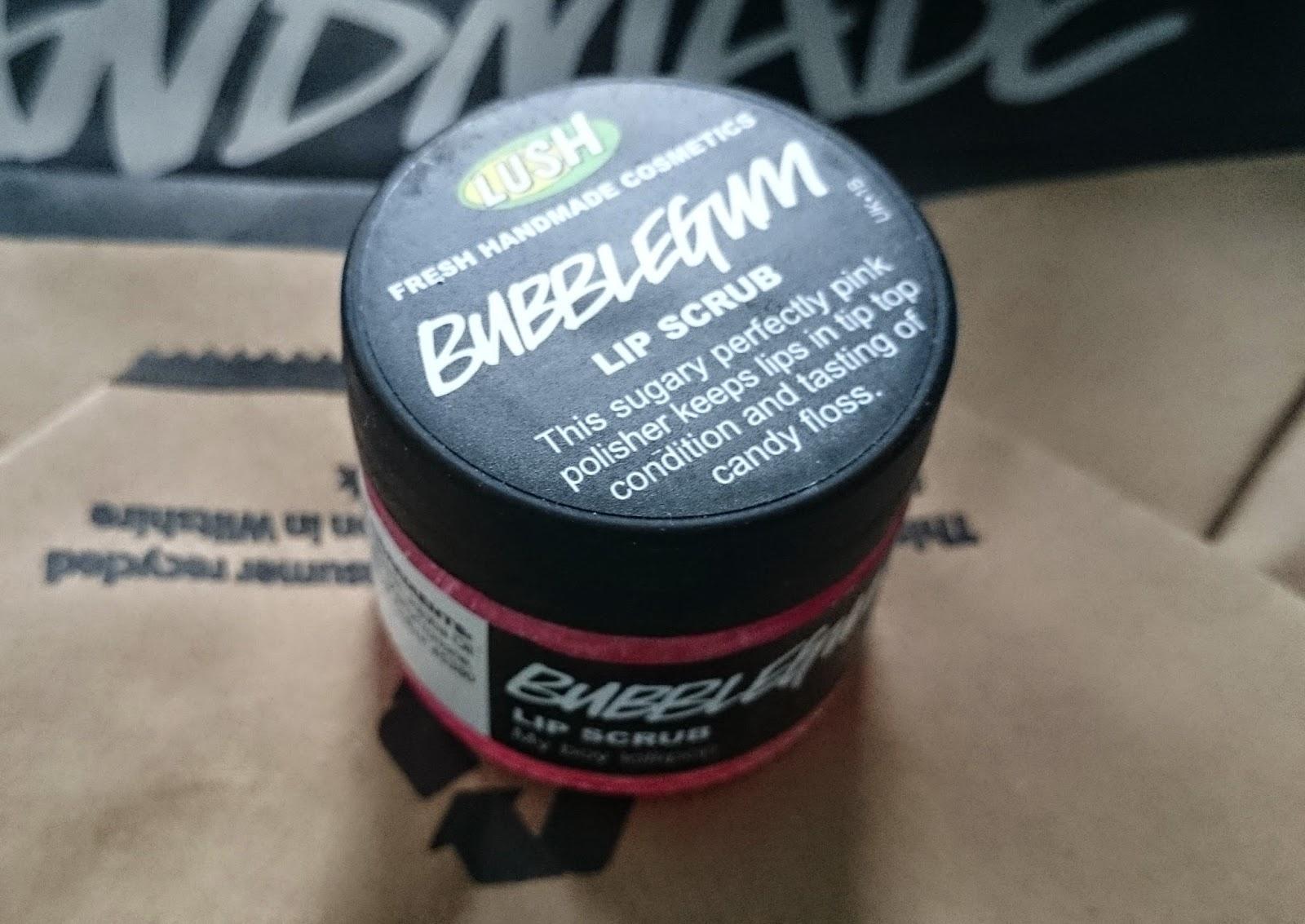 lush cosmetics haul bath bomb ballistic bubblegum lip scrub bubbleroom