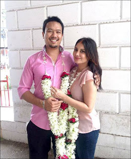 Minissha Lamba wedding photos with husband