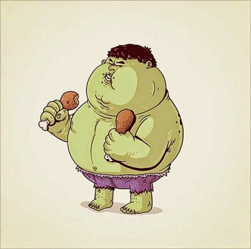 Fat Super Hero Gemuk - marvel Fat Hulk