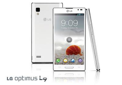 LG Optimus L9 visto de frente, de lado y por detrás