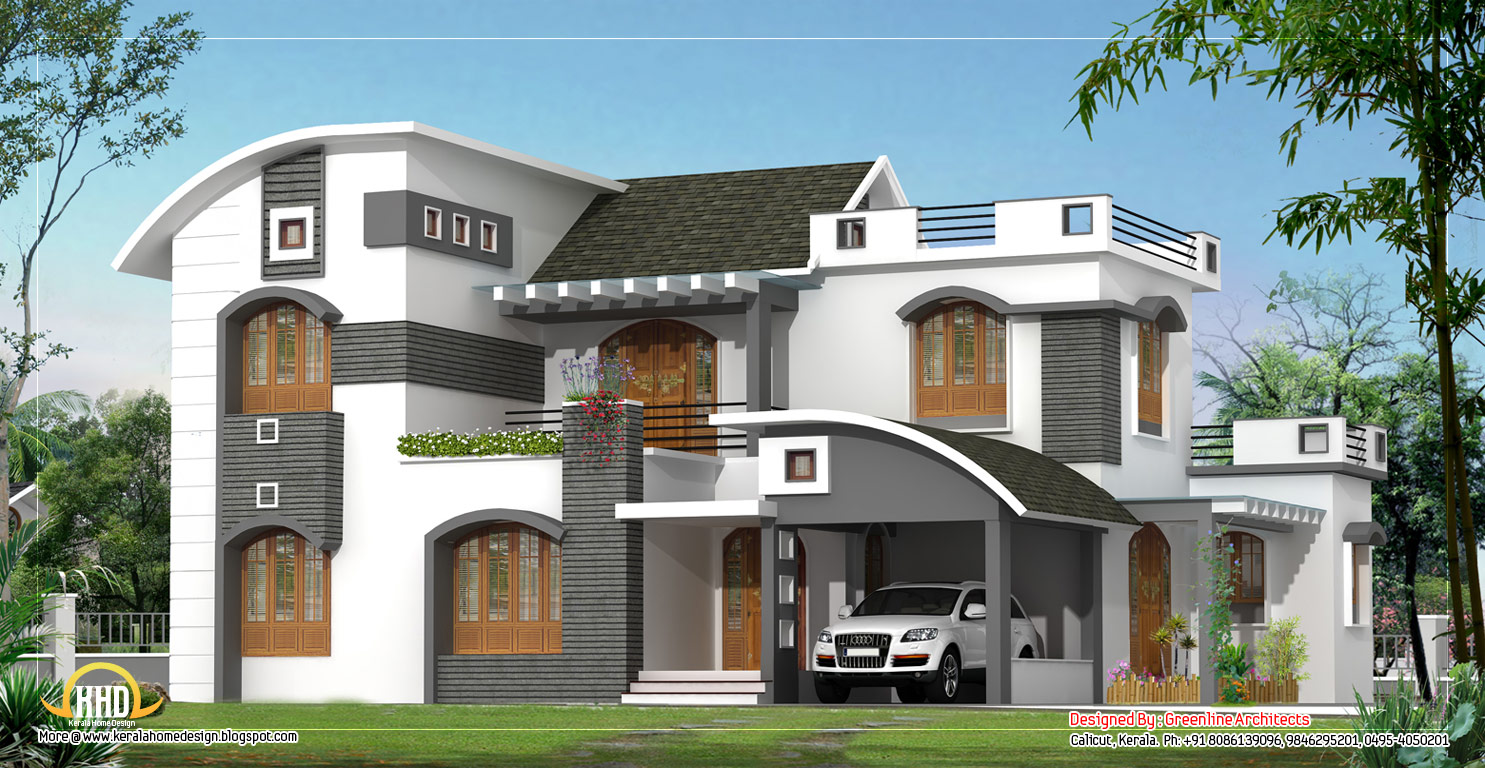 February 2012 kerala home design and floor plans Modern villa plan