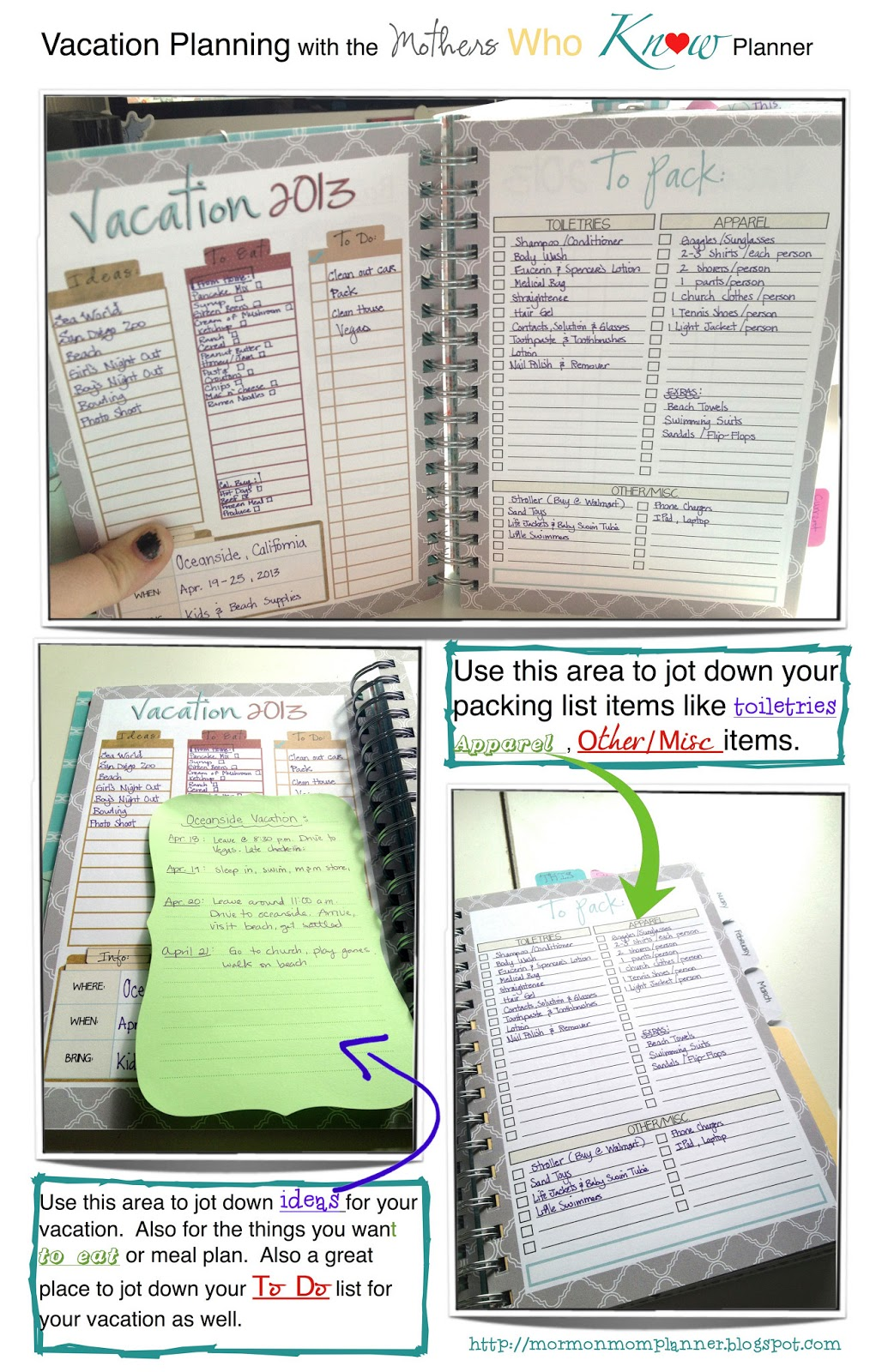 Mormon Mom Planners  Monthly PlannerWeekly Planner