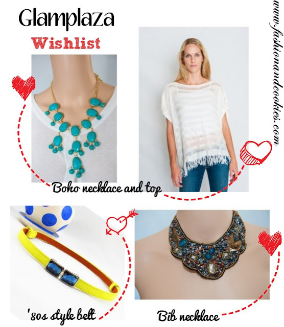 Glamplaza.com wishlist on fashion and cookies
