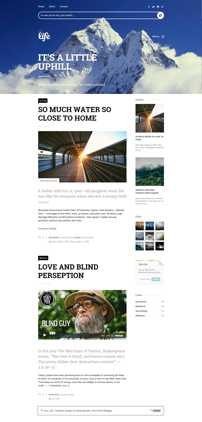Content Focused Responsive Blogger Template