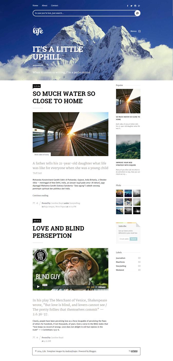 Content Focused Responsive Blogger Template