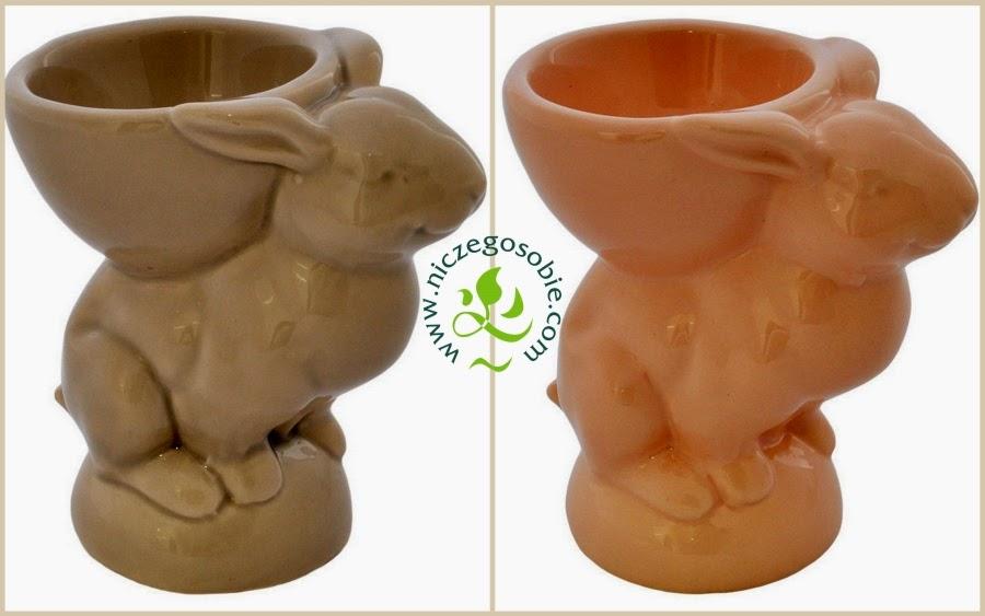 Ceramiczne podstawki na jajko w kształcie króliczków - Niczego Sobie