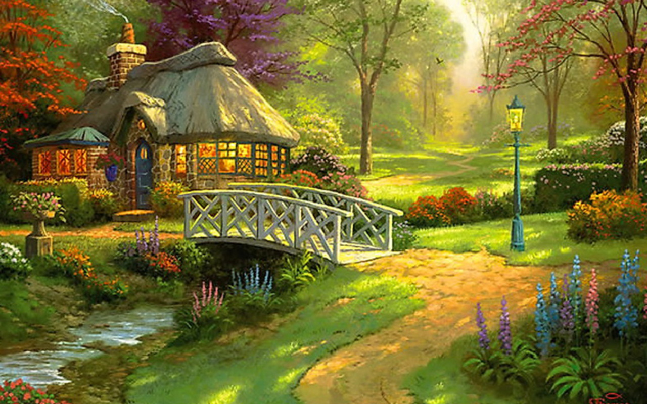 compartiendo fondos hermosos paisajes con casas de campo