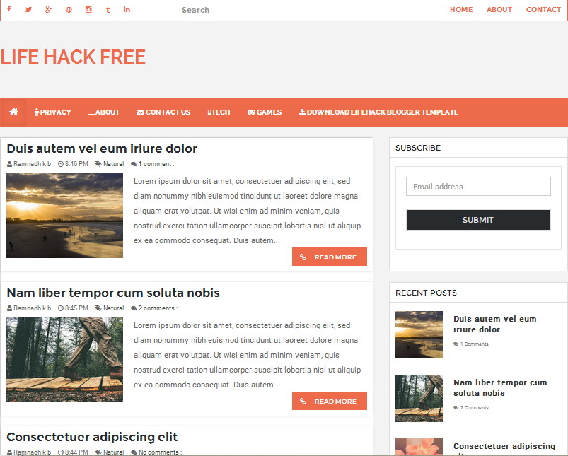 Free Blogger Template 2015