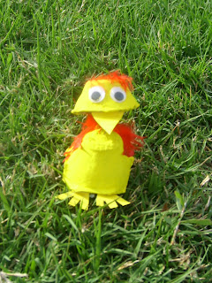 Bobble Head Chick ~ Recycled Crafts for kids