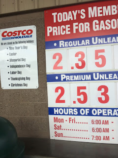 Costco gas for Feb. 7, 2015 at Redwood City, CA
