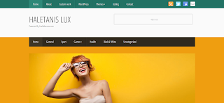 Haletanis Lux Blogger Template Is a Premium Wordpress To blogger Converted Blogger Template
