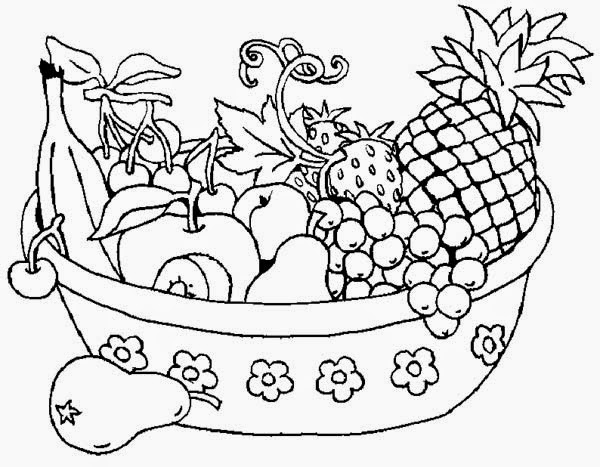 simple fruit coloring pages - photo#17