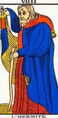 Carta de El Ermitaño en el tarot