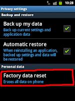 Cara Hard Reset Android