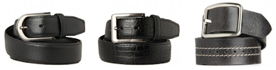 men black leather belt