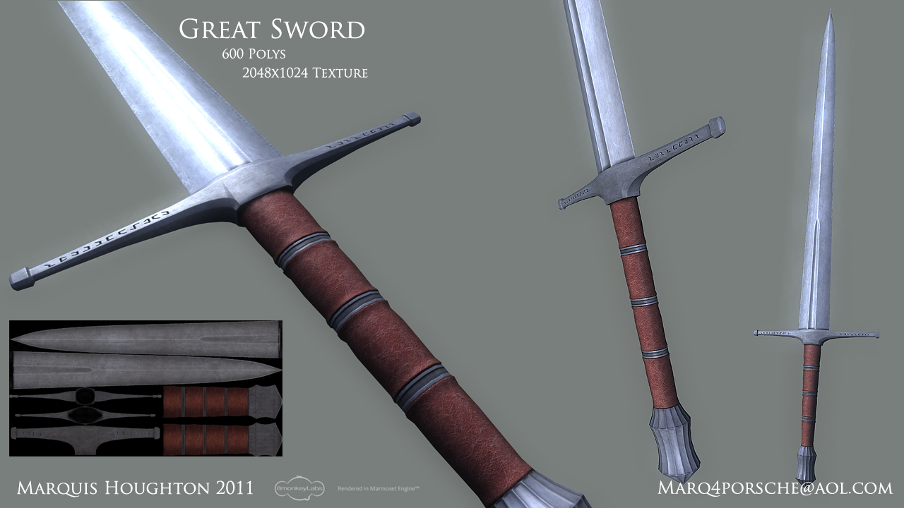 Marquis Houghton Environment Artist: Great Sword