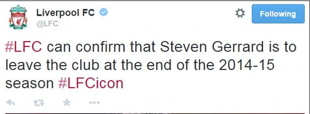 Steven Gerrard Tinggalkan Liverpool?